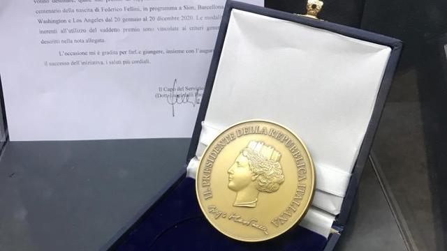 Médaille présidentielle pour la fondation Fellini